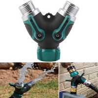 3/4 Inch Garden Hose 2 Way Splitter Valve Water Pipe Faucet Connector US Standard Thread