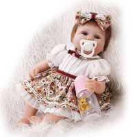 18inch Reborn Baby Dolls Newborn Realistic Soft Silicone Girl Toy