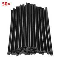 50pcs 11mm×270mm Black Hot Melt Glue Crafting Models Repair Sticks