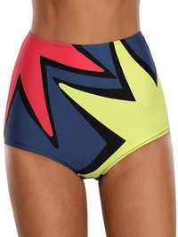 High Waist Print Swimming Trunks