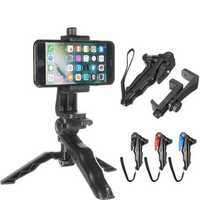 Universal Portable Rotated Desktop Phone Holder Handle Stabilizer Tripod Stand for Cell Phone Camera