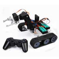 SNAR20 Arduino DIY RC Robot Arm Tank Acrylic With PS2 Stick