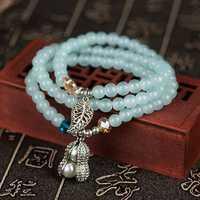 6mm Vintage Crystal Beads Pendant Multilayer Bracelets