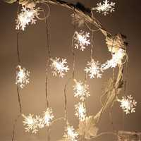 KCASA 1M 10LED Snowflake Shape LED String Light Colorful Battery Powered LED Light for Christmas Halloween Wedding Party Decorations