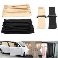 2pcs 70cm Mesh L Car Window Sunshade Curtain Auto Rear Valance UV Protection