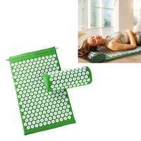 KALOAD Acupuncture Massage Pad Yoga Mats with Acupuncture Pillow Sports Fitness Fatigue Relief Acupoint Massage Pad
