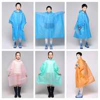 Children Kids PEVA Waterproof Hooded Poncho Lightweight Cover Suit Wear Protector Outdoor Raincoat