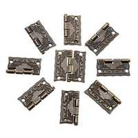 50Pcs Antique Wooden Gift Box Hinge Printing Packaging Case Hinge Corner Protectors 26 × 23mm
