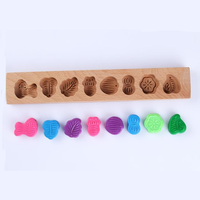 Traditional Vintage Wooden Mini Moon Cake Muffin Pastry Mould Printing Mould Baking Chocolate Candy
