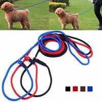 Nylon Pet Dog Puppy Training Leash Traction Lead Rope Belt & Adjustable Collar