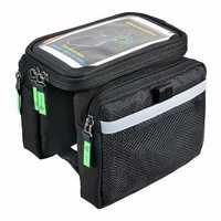 ROCKBROS Bicycle Rain Cover Touch Screen Waterproof Bike Frame Phone Bag