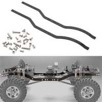 2PC Carbon Fiber Chassis Frame Rails Set for Axial SCX10 1/10 RC Crawler Car Parts