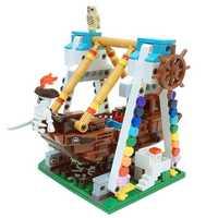 Genuine 520pcs Colorful World Series The Pirate Ship Set Building Blocks Bricks Educational Toys Mod