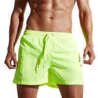 Mens Solid Color Summer Soft Home Sports Board Beach Shorts