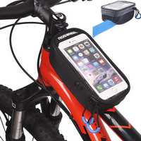 ROSWHEEL U Model Touchscreen Bicycle Bag 5.2'' 5.7'' Bike Front Frame Tube Concave Bag