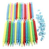 75pcs Plastic Hairdressing Spiral Hair Perm Rod Hair Styling Tools Salon Barber DIY