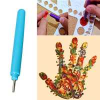 Slotted Paper Quilling Pen DIY Papercraft Craft Card Tool Random Color