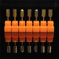 Stainless Steel Smooth Nail Drill Bits Machine Manicure Tools Polish File Grinding 3/32''