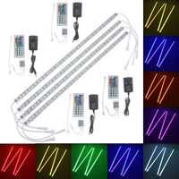 4pcs 50cm 5050 RGB LED Rigid Strip Light Fish Tank Aquarium Lamp TV Background Lighting