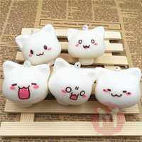 Squishy Toys Mushroom Cat Kawaii Cartoon Cute Face Decor Bag Cell Phone Straps