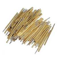 100Pcs P50-B1 Spring Test Probe Pogo Pin Dia 0.5mm Length 16.35mm