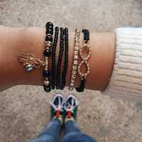 Trendy Diamond Woven Bracelet