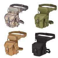 Men's Nylon Hip Drop Belt Waist Fanny Leg Bag Waterproof Military Tactical Bag