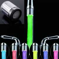 RC-F07 LED Water Faucet Light Colorful Changing Glow Bathroom Shower Head Kitchen Tap Aerators