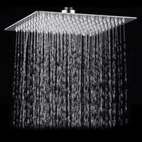 15x15cm 6 Inch Square Water-saving Pressurized Top Spray Shower Head 201 Stainless Steel