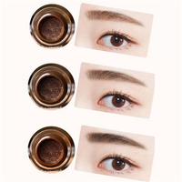 3 Colors Air Cushion Eyebrow Cream Waterproof Not Blooming Eye Brow Enhancers Makeup Gel
