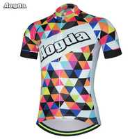 AOGDA Original Design Colorful Men's Sports Cycling Bike Jersey Bicycle Short Sleeve