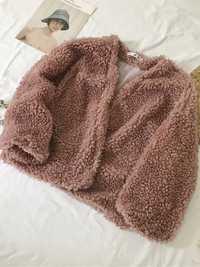 Women Trendy Solid Color Fluffy Short Cardigan Coats