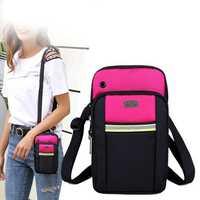Women Nylon Sling Bag 5.5 Inch Phone Bag Crossbody Bag