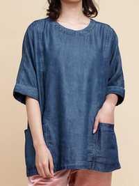 Women Denim 3/4 Sleeve Blouse