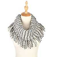 Womens Windproof Collar Ring Scarves With Tassel