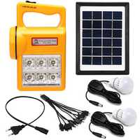 Portable Solar Panel Generator Kit Solar Powered System LED Light for Home Camping