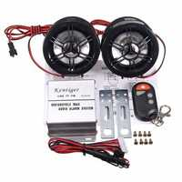 Motorcycle Audio Stereo FM MP3 Amplifier Speaker Anti Theft Alarm USB With bluetooth Function DC 12V