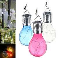 Solar Powered Warm White Waterproof Outdoor Garden Fairy Lighting Bulb Camping Hanging Lamp