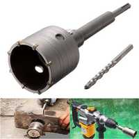 65mm Hole Saw Cutter Drill Bit with SDS Plus Shank for Concrete Cement Stone Wall