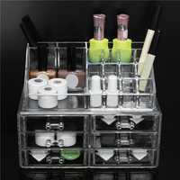 Acrylic Clear Makeup Organizer Cosmetics Display Holder Case Drawer Box