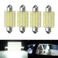4Pcs 3W 41mm Car Interior LED Festonn Readding Roof Light Lamp Bulb White