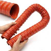 64mm 2.5Inch Silicone Flexible Brake Ducting Hose Aeroduct Airduct Pipe 1M