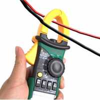 MASTECH MS2108A LCD Digital Clamp Meter Multimeter AC DC Current Volt Tester