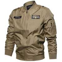 Tactical Military Style Bomber Jacket Epaulet Flight Jackets