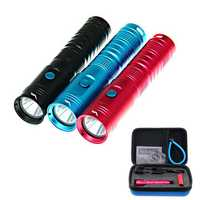 HOOZHU U10 Underwater 80m U2 900LM 3Modes Easy Operation Diving Light Portable Waterproof EDC Flashlight Suit with 18650 & Charger