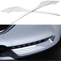 Silver ABS Car Fog Lamp Cover Trims for Mazda CX5 2017 2018 Foglight Cover Accessories
