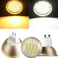 GU10/MR16 4W LED Spotlight 27 5050SMD 220V Warm White/ White Bulb Lamp