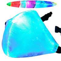 7 Color LED Light Dust Haze Face Mask DJ Party RaveHip-hop Dance Stage COS