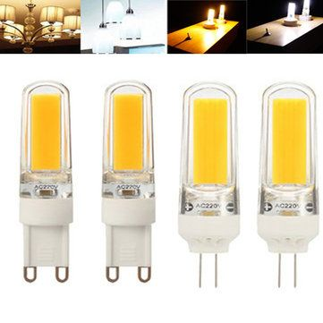 ZX Dimmable G4 G9 LED Filament Retro COB Glass Light Bulb 110V 220V Replace Holagen Light Bulb