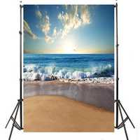 3x5ft 5x7ft Sunny Sea Beach Photography Backdrop Studio Prop Background